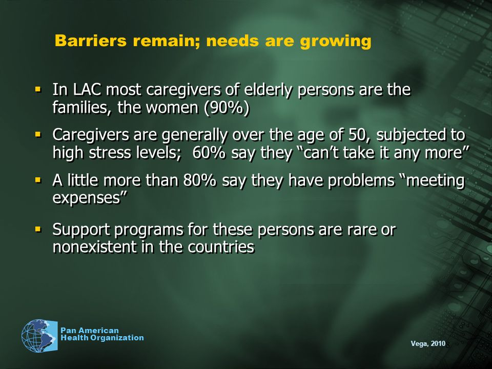 Barriers remain; needs are growing