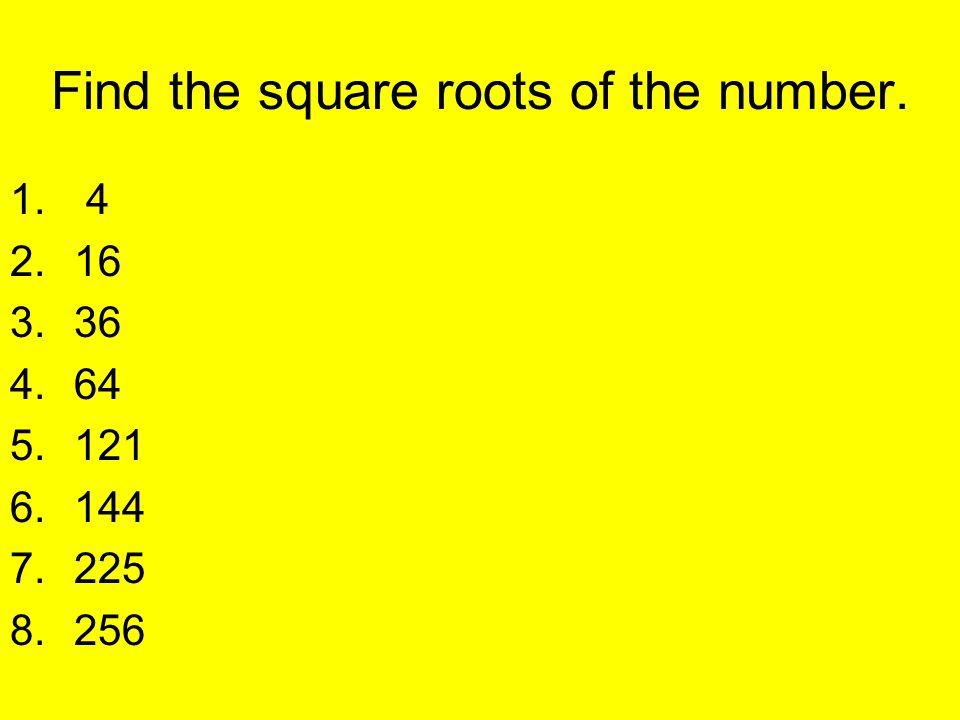 how to find the square of a number