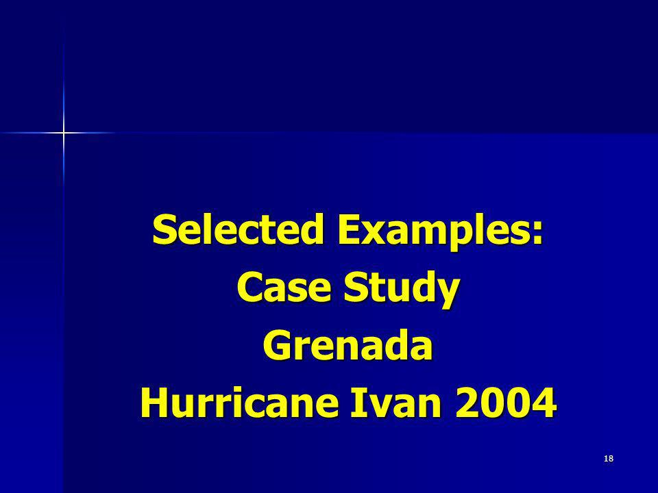 Selected Examples: Case Study Grenada Hurricane Ivan 2004