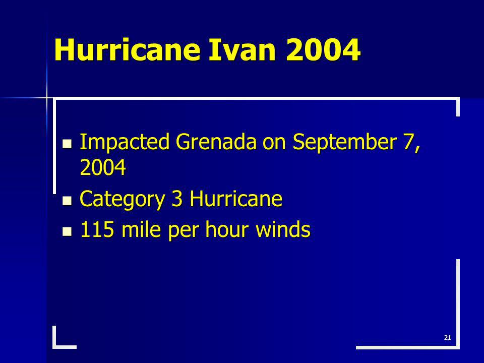Hurricane Ivan 2004 Impacted Grenada on September 7, 2004