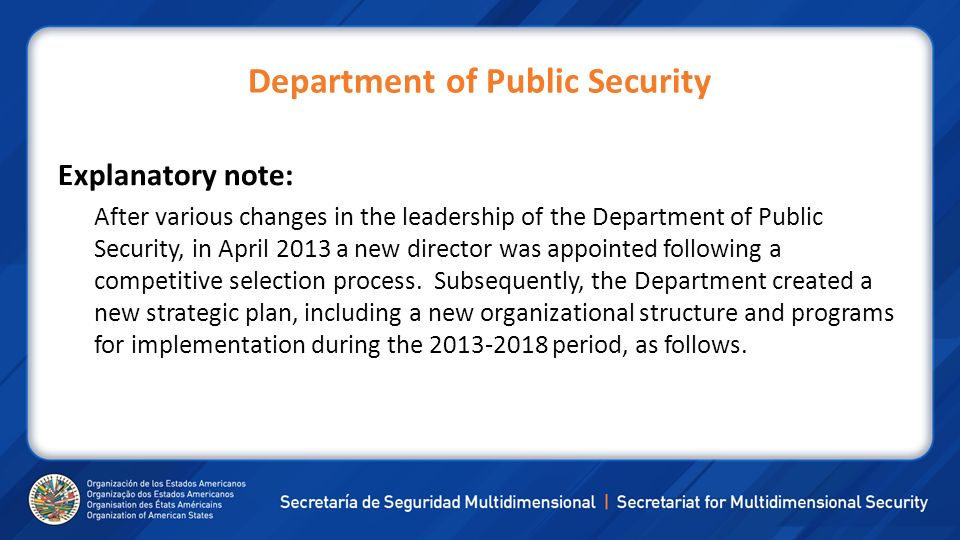Department of Public Security