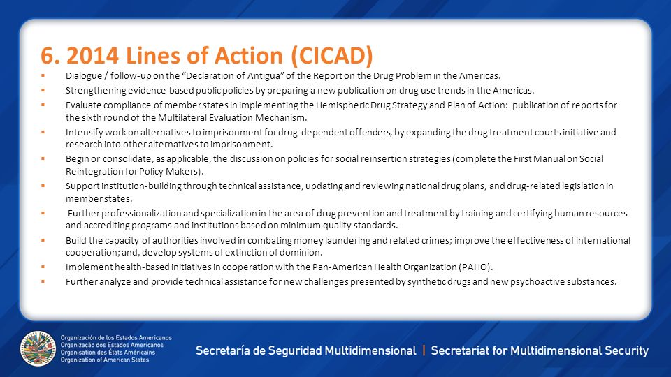 6. 2014 Lines of Action (CICAD)