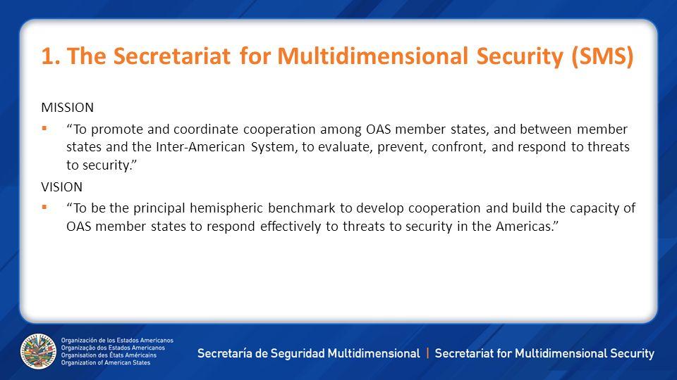 1. The Secretariat for Multidimensional Security (SMS)