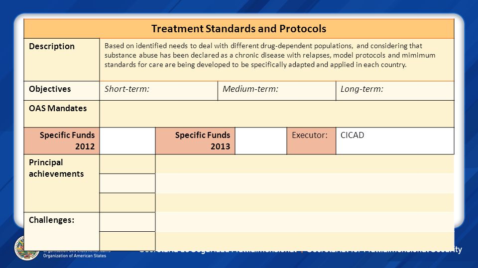 Treatment Standards and Protocols