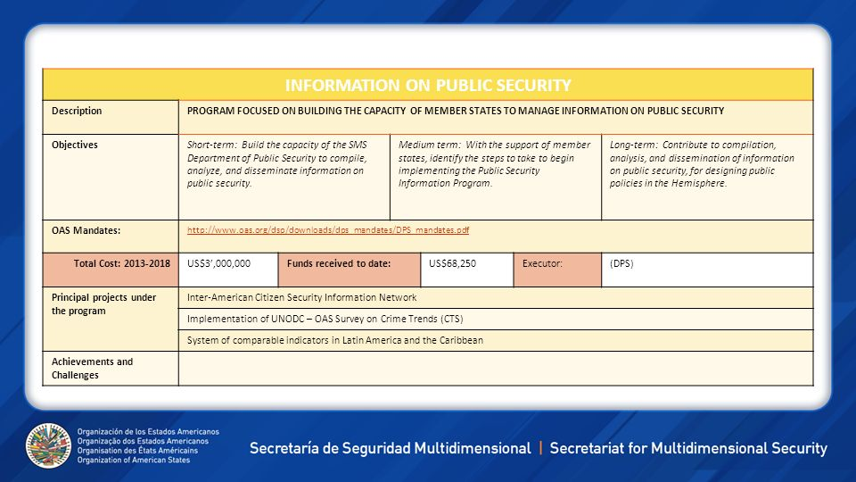 INFORMATION ON PUBLIC SECURITY