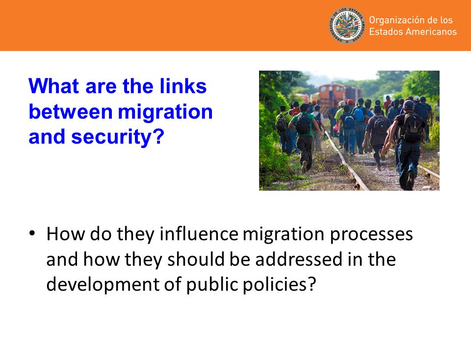 What are the links between migration and security