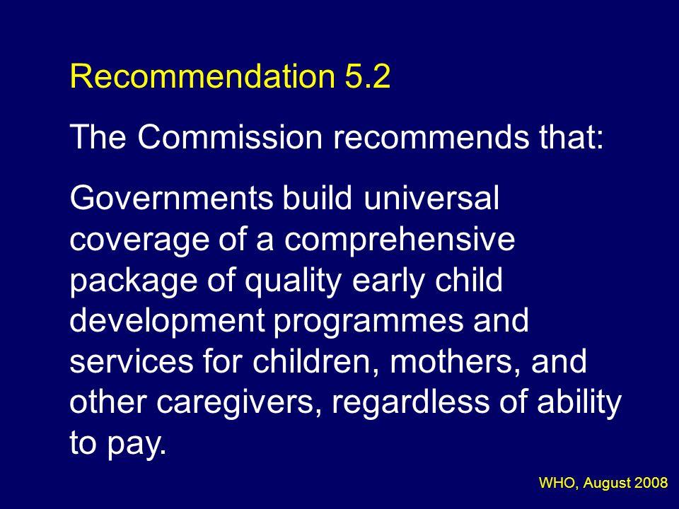 The Commission recommends that:
