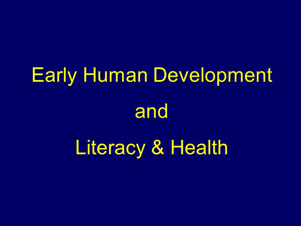 Early Human Development