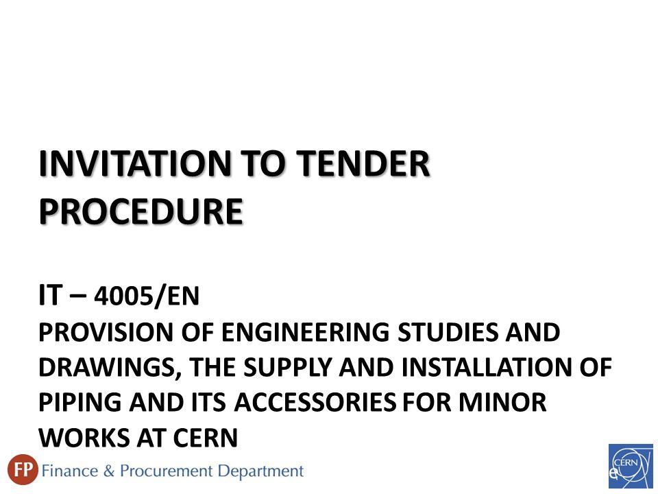 Invitation to tender procedure it 4005en provision of 2 invitation to tender stopboris Choice Image