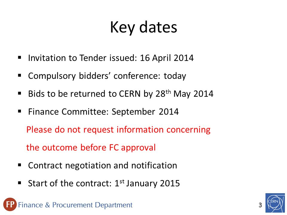 Invitation to tender procedure it 4005en provision of engineering key dates invitation to tender issued 16 april 2014 stopboris Images