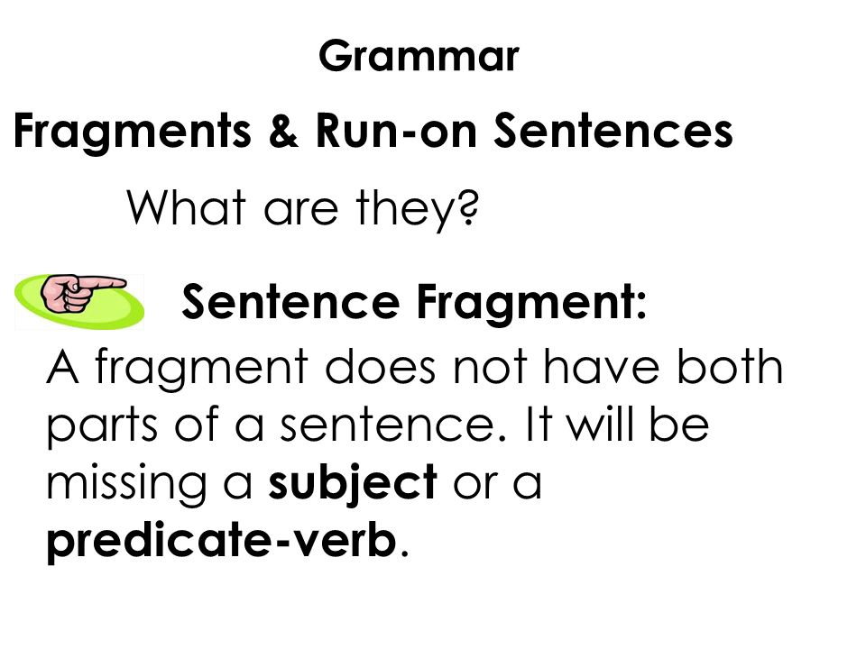what are run on sentences