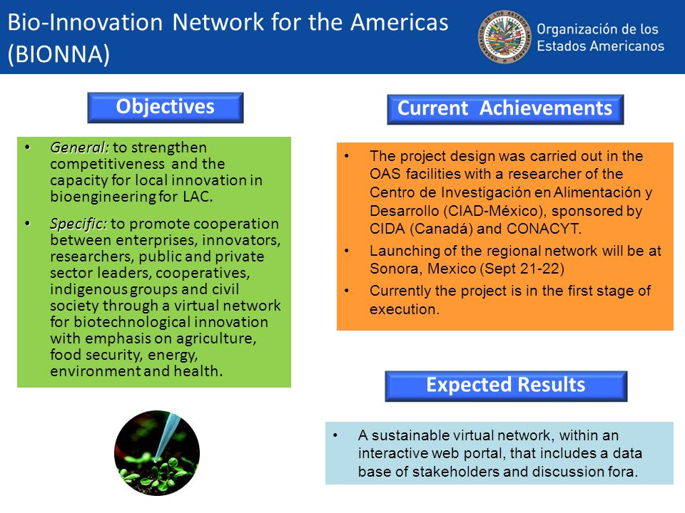 Bio-Innovation Network for the Americas (BIONNA)