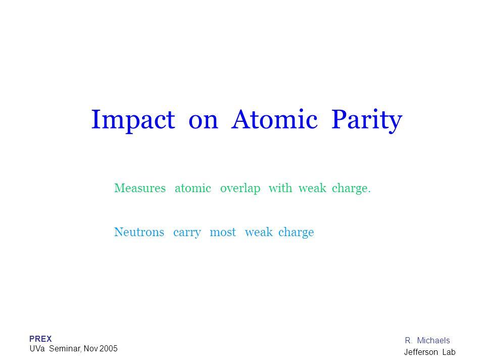 Impact on Atomic Parity