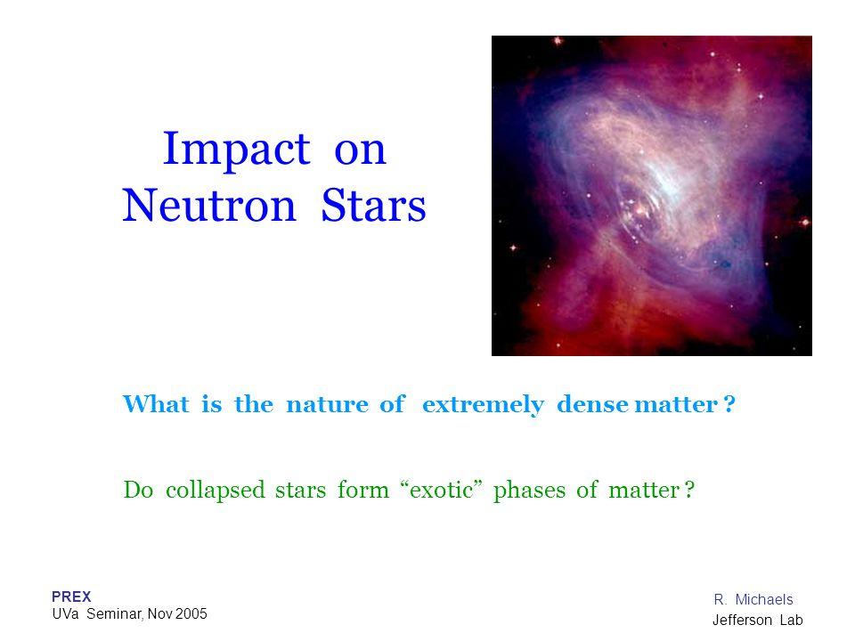 Impact on Neutron Stars