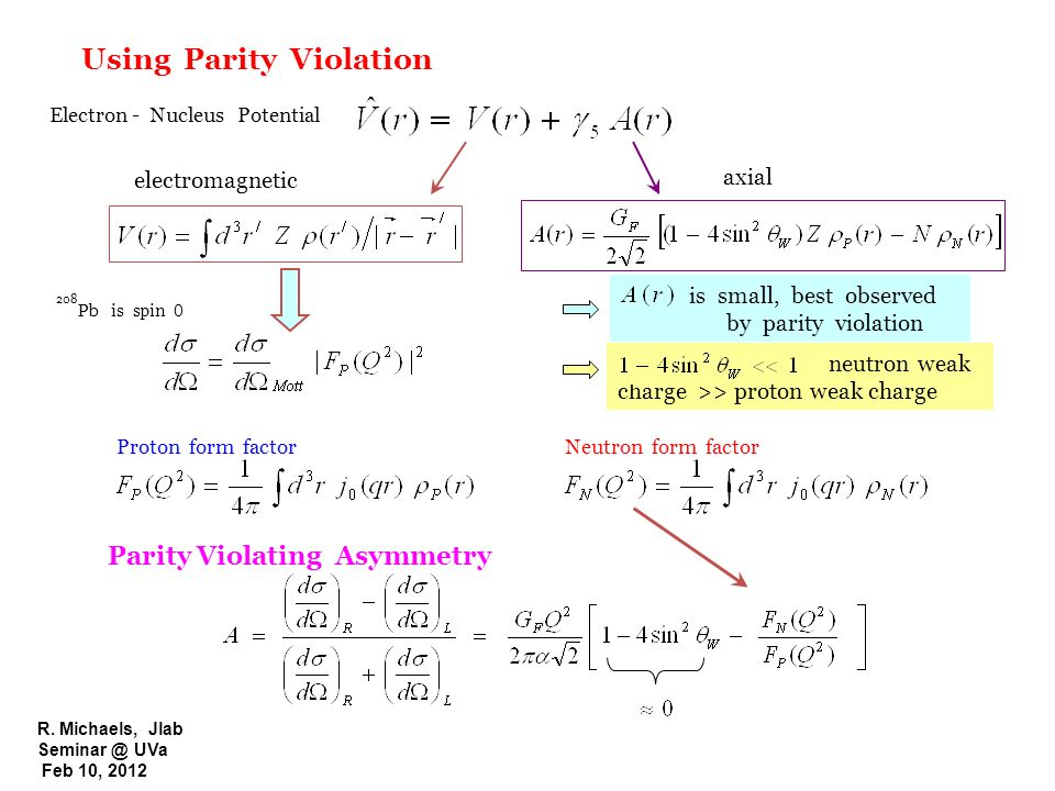Using Parity Violation