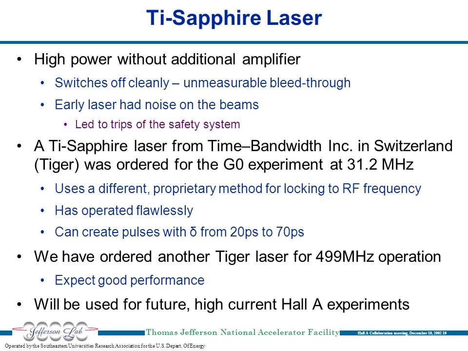 Ti-Sapphire Laser High power without additional amplifier
