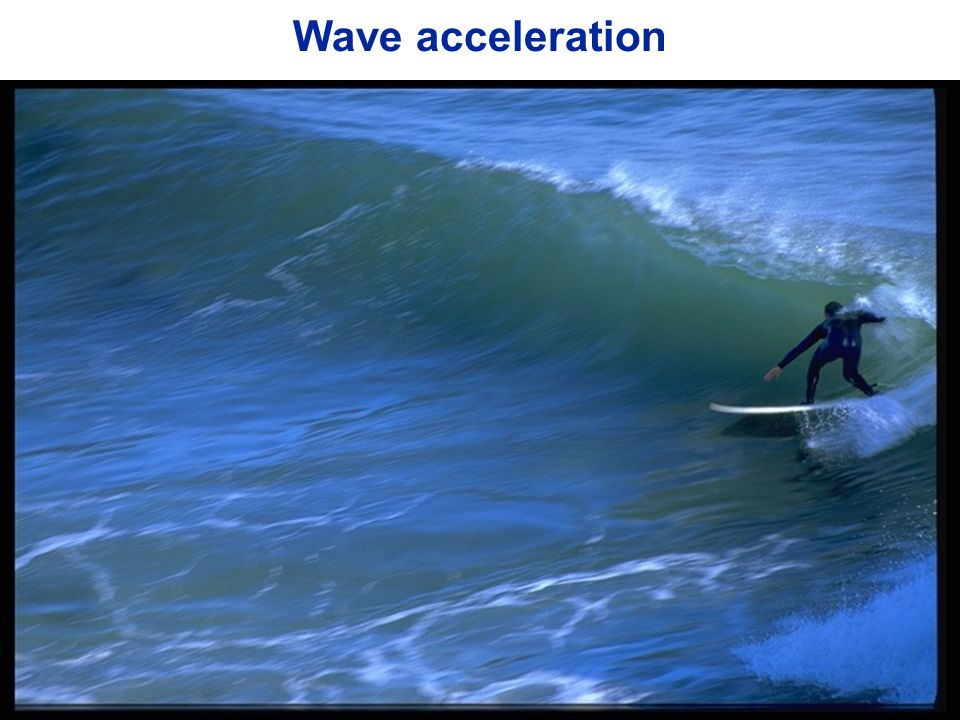 Wave acceleration