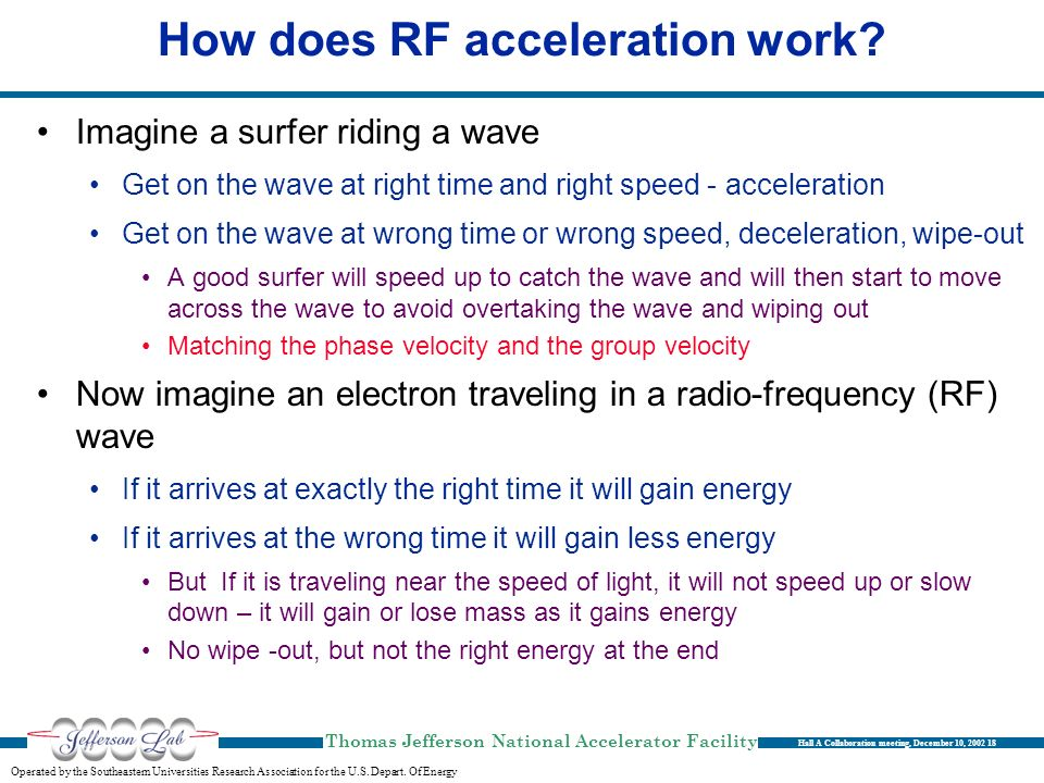 How does RF acceleration work