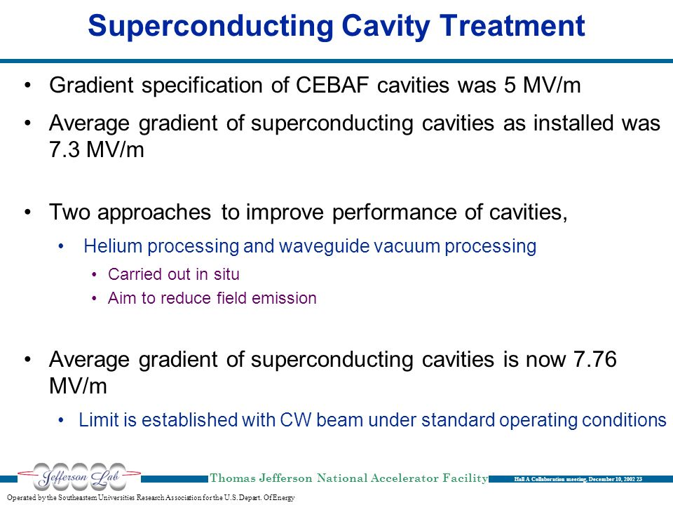 Superconducting Cavity Treatment