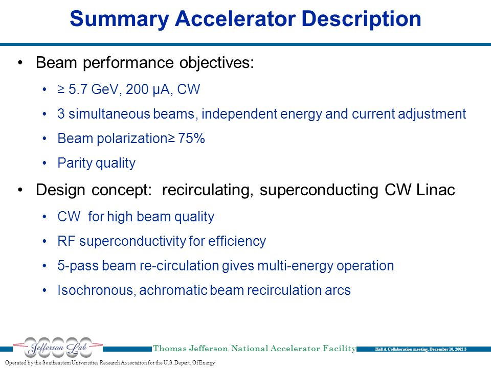 Summary Accelerator Description