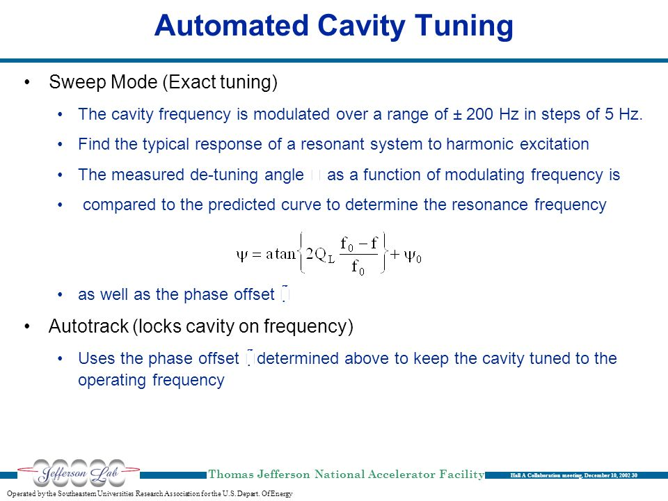 Automated Cavity Tuning