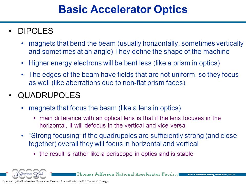 Basic Accelerator Optics