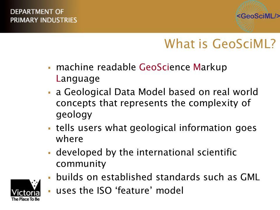 What is GeoSciML machine readable GeoScience Markup Language