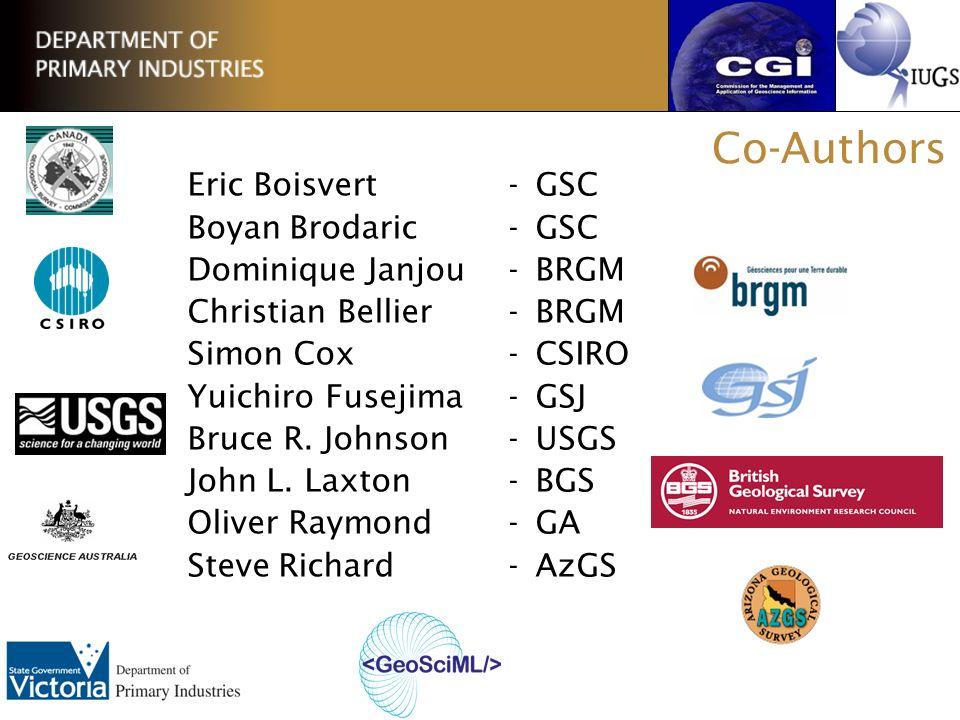 Co-Authors Eric Boisvert - GSC Boyan Brodaric - GSC