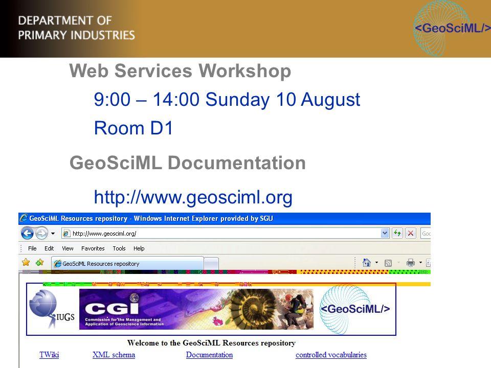 GeoSciML Documentation http://www.geosciml.org
