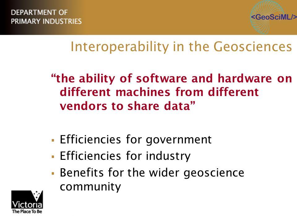 Interoperability in the Geosciences