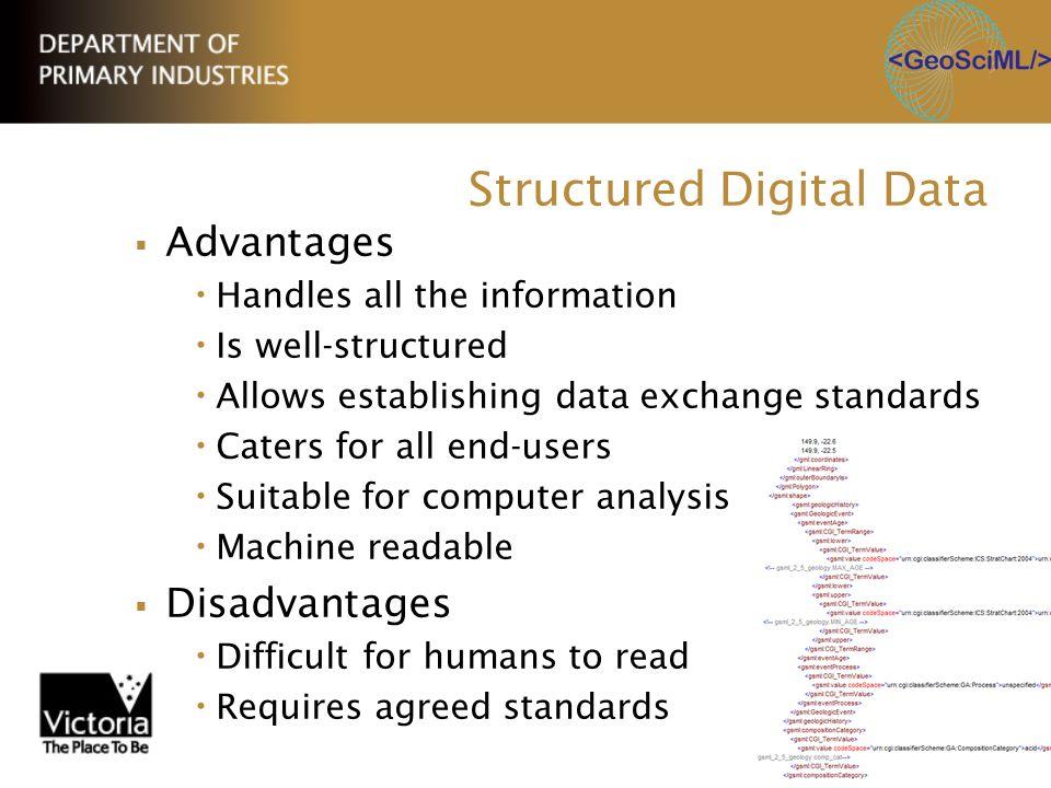Structured Digital Data