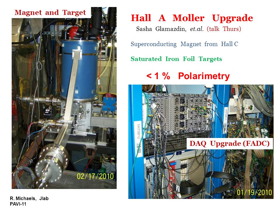 Hall A Moller Upgrade < 1 % Polarimetry Magnet and Target