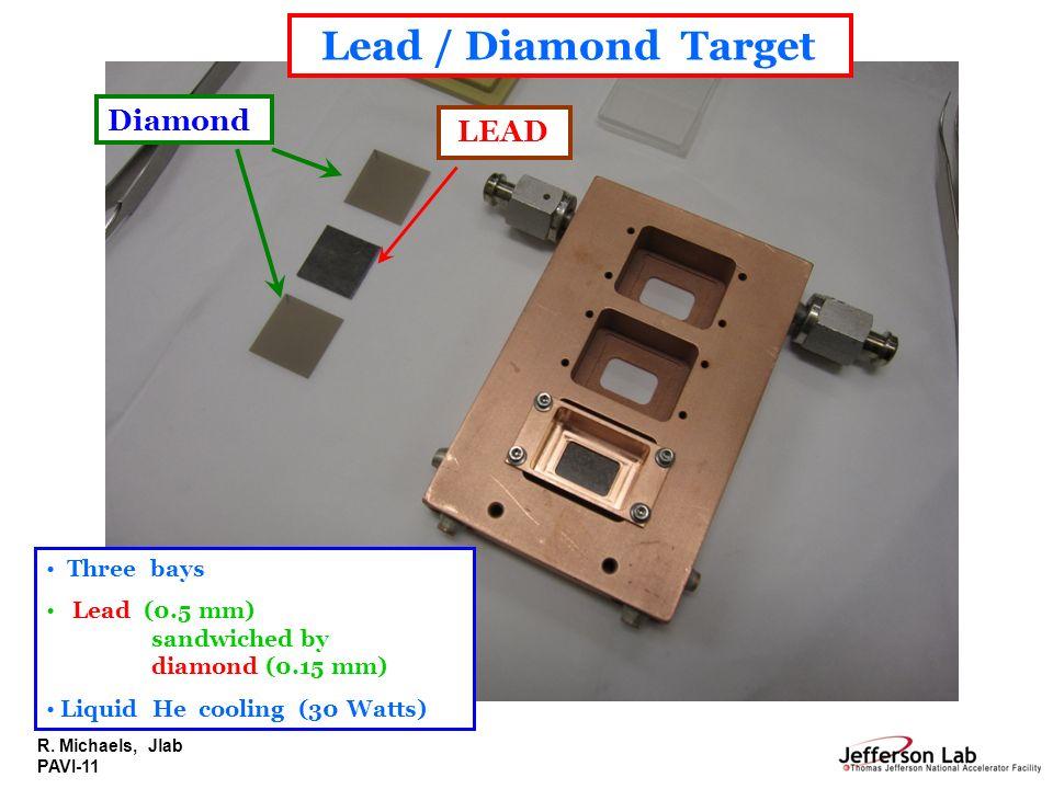 Lead / Diamond Target Diamond LEAD Three bays