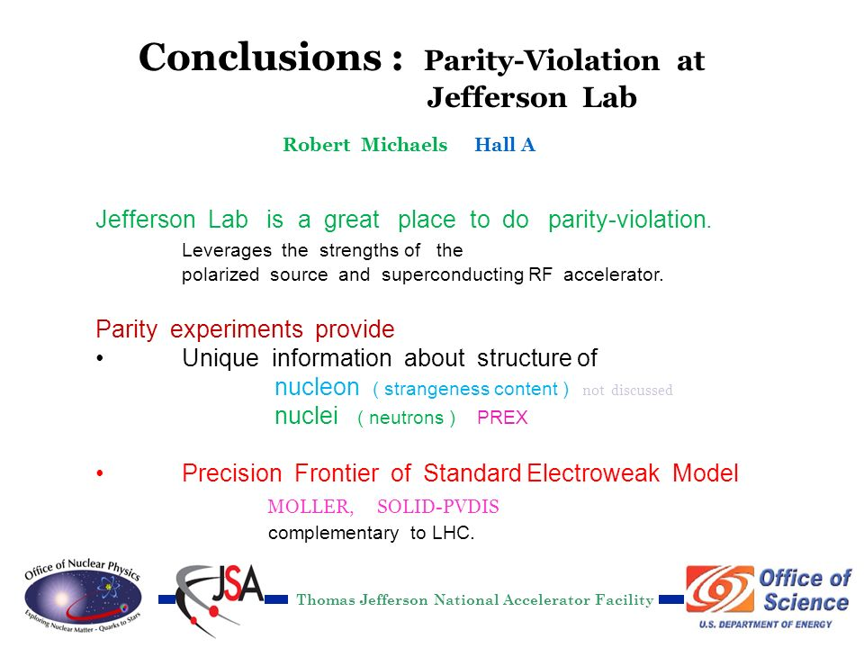 Thomas Jefferson National Accelerator Facility