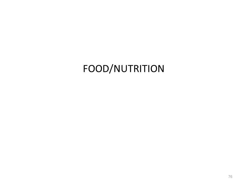 FOOD/NUTRITION