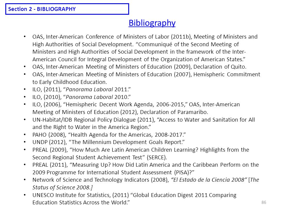 Bibliography Section 2 - BIBLIOGRAPHY