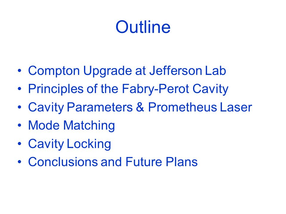 Outline Compton Upgrade at Jefferson Lab
