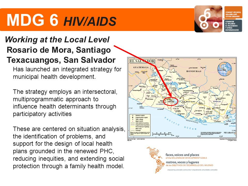 MDG 6 HIV/AIDS Working at the Local Level