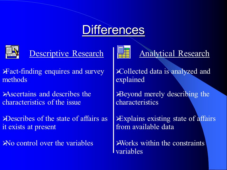 descriptive analytical research Case study research has a long history within the natural sciences, social sciences, and humanities, dating back to the early 1920's at first it was a usefu.