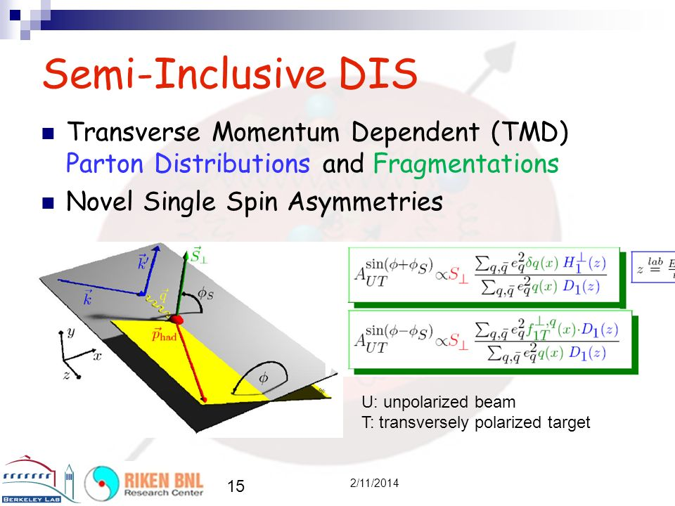 Semi-Inclusive DIS Transverse Momentum Dependent (TMD) Parton Distributions and Fragmentations. Novel Single Spin Asymmetries.