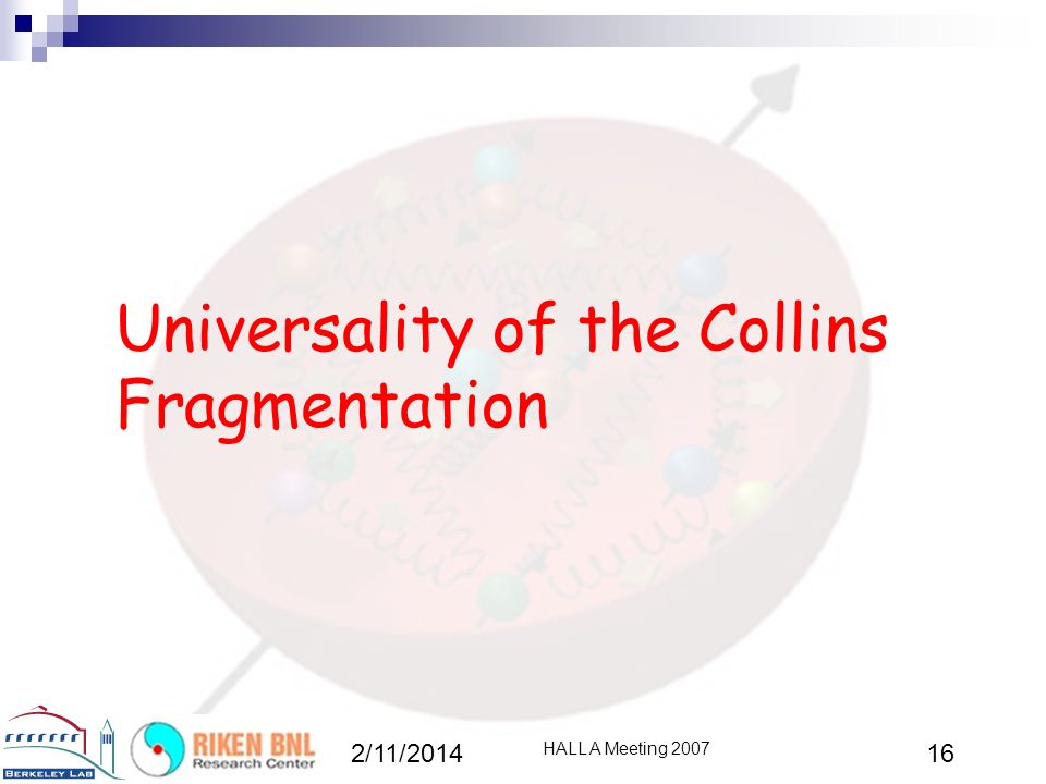 Universality of the Collins Fragmentation