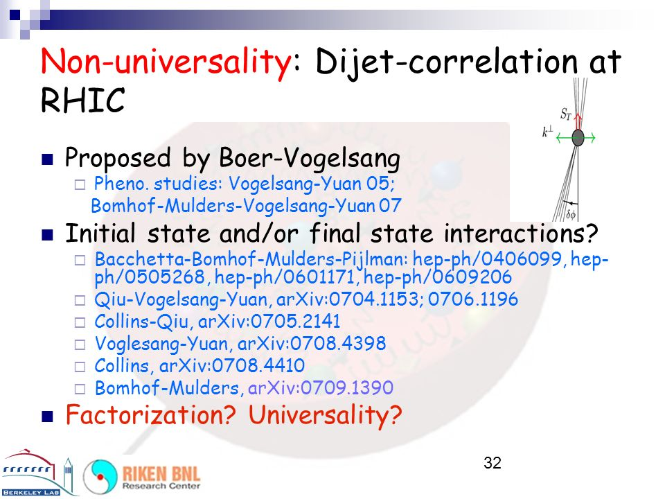 Non-universality: Dijet-correlation at RHIC