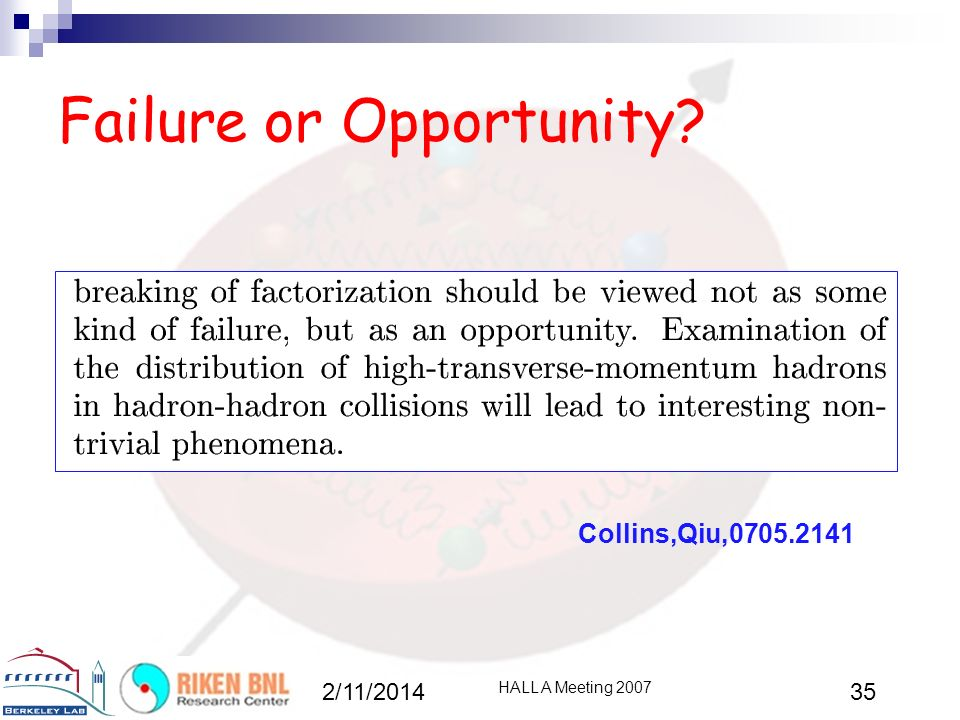 Failure or Opportunity