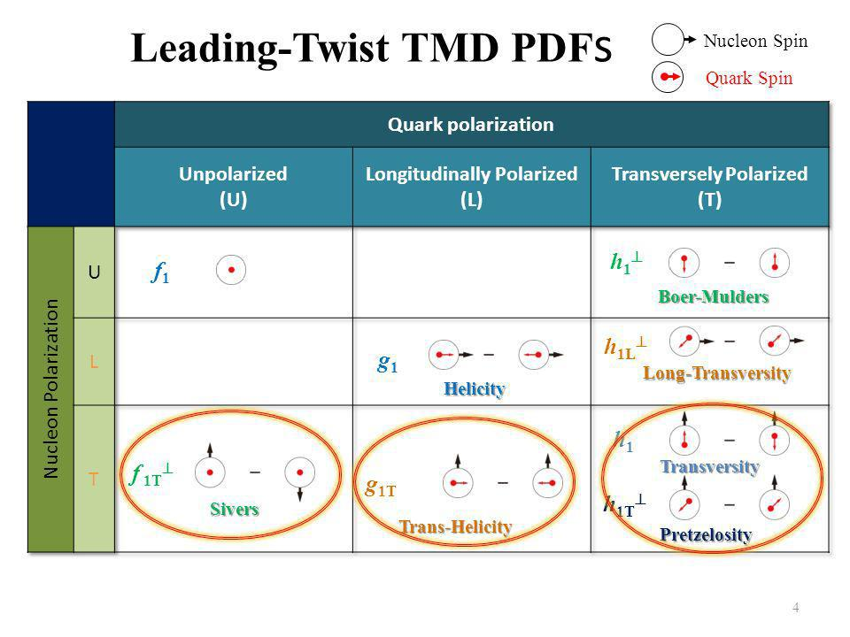 Leading-Twist TMD PDFs