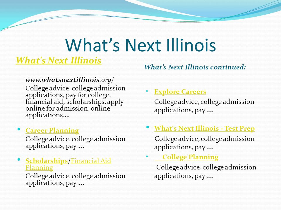 What's Next Illinois What s Next Illinois