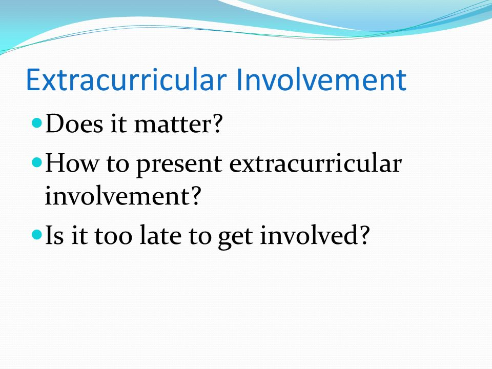 Extracurricular Involvement