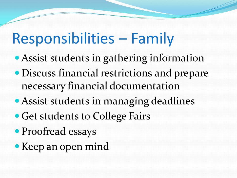 Responsibilities – Family