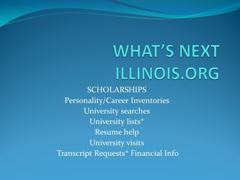 WHAT'S NEXT ILLINOIS.ORG