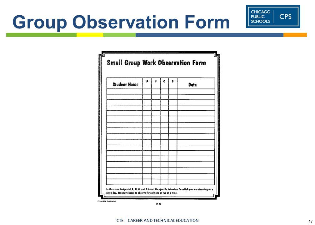 Group Observation Form