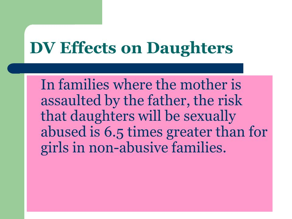 DV Effects on Daughters